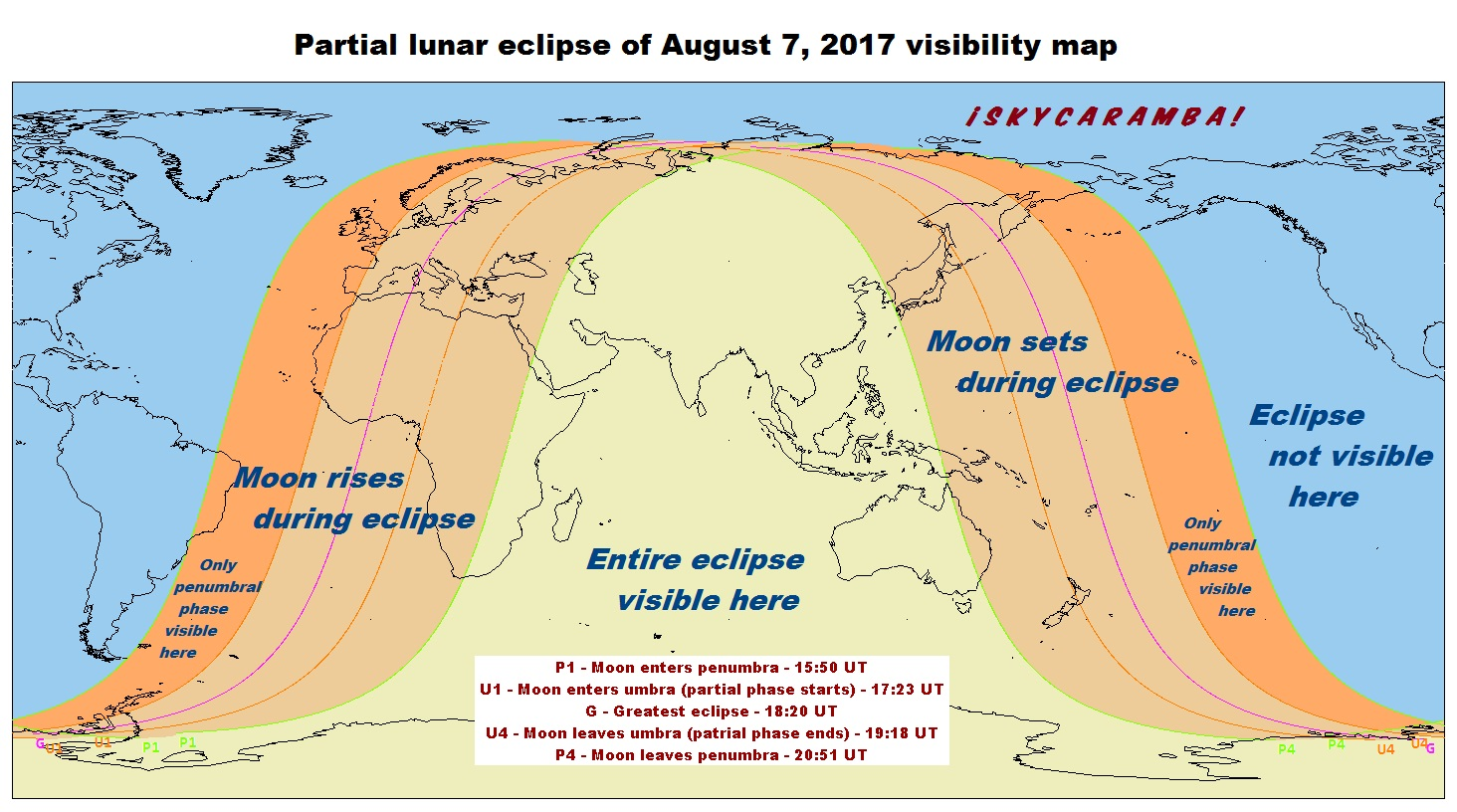 2017 Eclipse Map Partial.Eclipses Astronomy Events For 2017